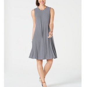 STYLE & CO Striped Swing Dress